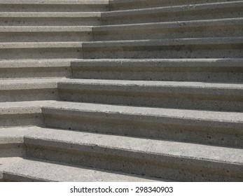 Concrete stairs outside in sunlight