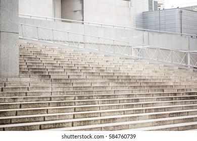Concrete stairs white granite urban architecture