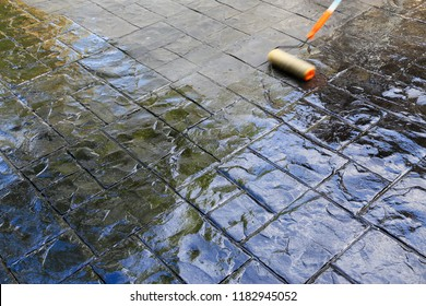 Concrete Stamp Floors Varnish.