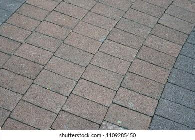 Concrete stamp pattern outdoor floor
