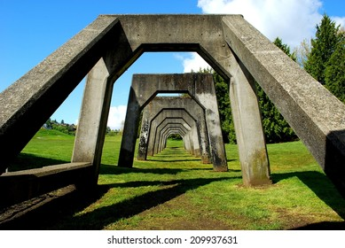 Concrete Structure in Gas Works Park in Seattle, Washington