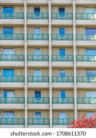 Concrete Tower Block Bracknell Berkshire, England. Showing windows and balconies