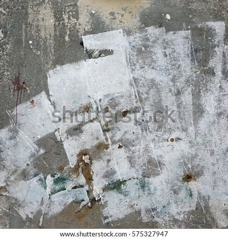 Concrete Urban Brick Wall Painted Blank Stock Photo (Edit Now ...