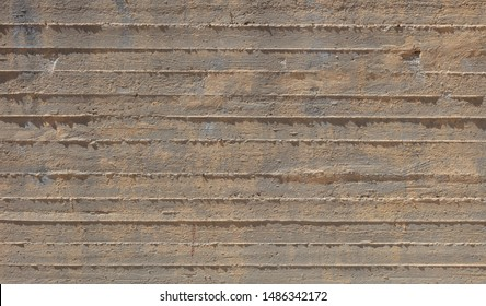 Concrete wall background texture. Fair faced exposed concrete, building construction site, empty space, material