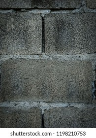 Concrete wall with cement