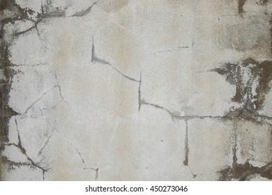 Concrete wall cracks background
