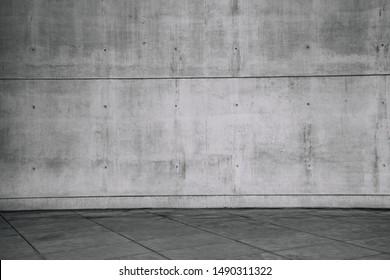 Betonmauer und leerer Fußboden