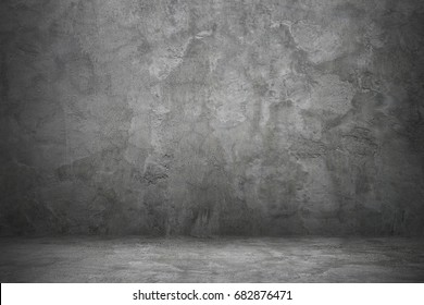 it is concrete wall and floor for background and design.