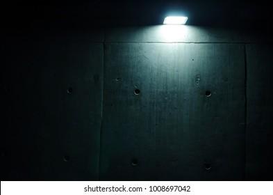 Concrete wall of light