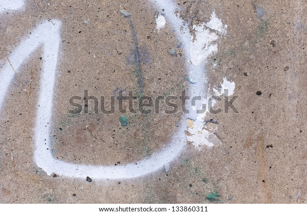 Concrete Wall Spray Paint Mark Stock Photo Edit Now 133860311