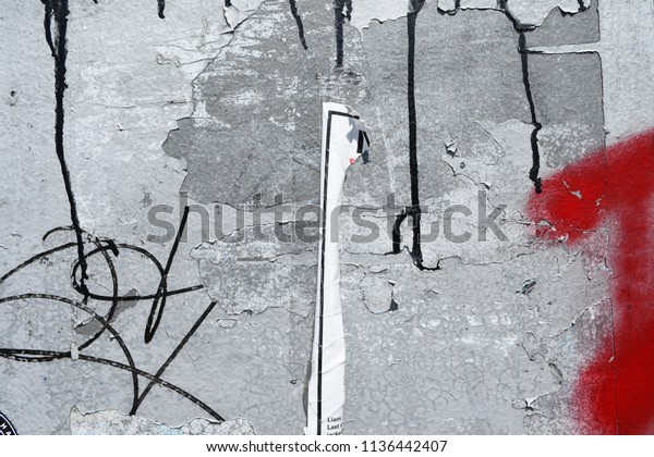 Concrete Wall Surface Red Youth Spray Stock Photo Edit Now