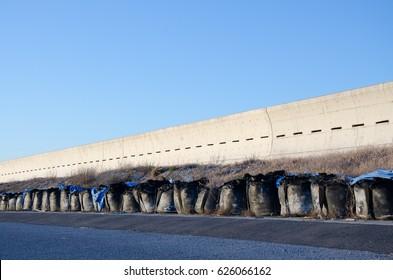 Concrete Wall for Tsunami Prevention