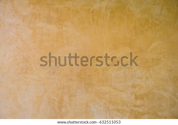 Concrete Wall Yellow Color Background