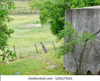 Concrete Water tank rural scene