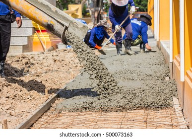 Concrete Workers are working
