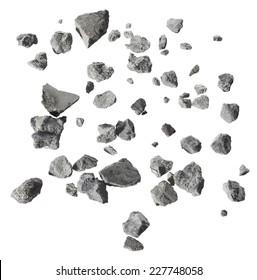 concrets set isolated on white background
