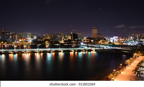 Condado Lagoon at night