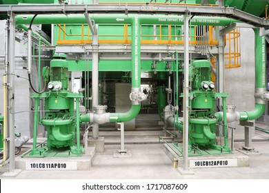Condensate Extraction Pumps extract the condensate water from hot well of the mian condenser and pump it through the condensate polishing system and the LP heaters to the deaerator feed water tank.