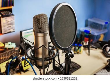 condenser microphone studio vocal recording - home studio accessories