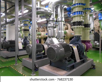 Condensor water pump at chiller plant