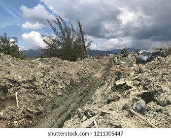 The condition of petobo after earthquake and liquefaction that Destroyed Palu Region on 28 September 2018