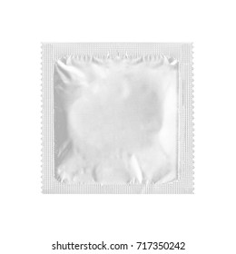 condom on a white background