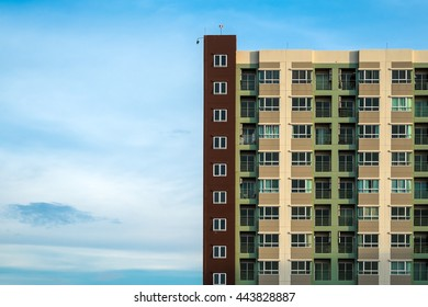 condominium with blue sky