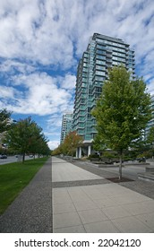 Condominiums in downtown Vancouver