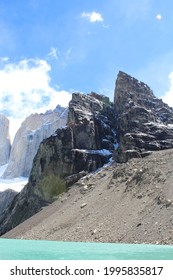 Condor nest hill at Torres del Paine National Park in Chilean Patagonia