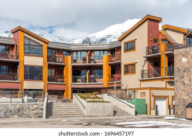 Condos in the beautiful mountain town of Canmore, Alberta.