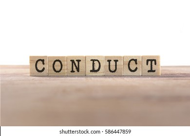 Conduct Word Written In Wooden Cube