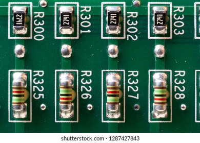 Conductors and transistors on the board