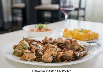 Conejo al ajillo (Rabbit with garlic)