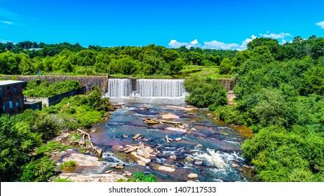 Conestee Falls in Greenville South Carolina.