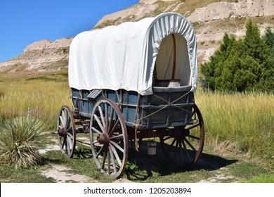 Conestoga Wagon Scotts Bluff National Monument, Oregon Trail, Nebraska