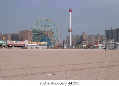 Coney Island from the beach