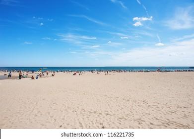 Coney Island beach in New York City.