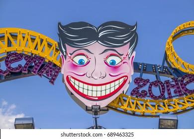 Coney Island, New York, United States - May 19, 2017: Entrance of Luna Park.