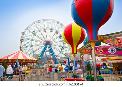 CONEY ISLAND, NY - APRIL 25:  Another season opens and visitors can expect to find construction of new rides amongst the vintage rides which have been shut down. Pictured: Historic Wonder Wheel on April 25, 2011, Coney Island, NY