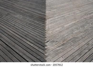 Coney Island wooden boardwalk detail Brooklyn New York