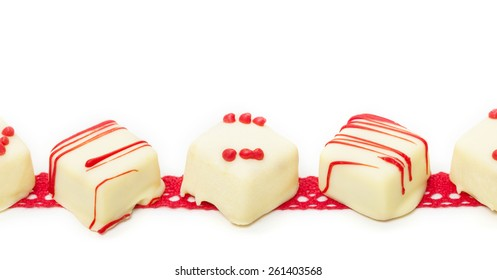 Confection on the ribbon, isolated