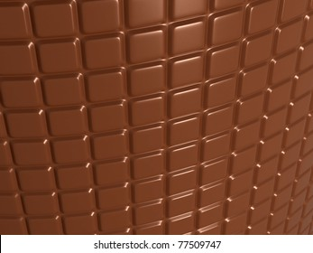 Confectionery and sweet food: chocolate bar. Useful as background