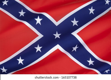 The Confederate Army battle flag. Despite never having historically represented the C.S.A. it is commonly referred to as the Confederate Flag and has become a widely recognized symbol of the South.