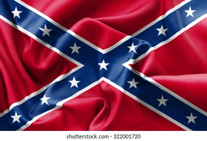 Confederate flag texture creased and crumpled up with light and shadows