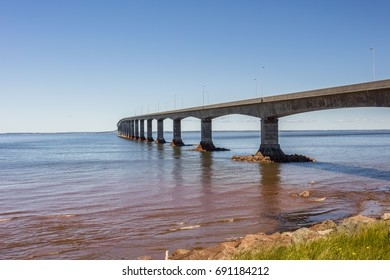 The Confederation Bridge linking New Brunswick to Prine Edward Island.
