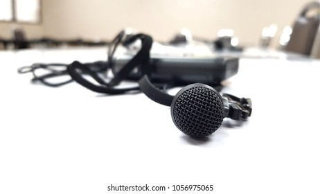 Conferance microphone for translator on white background