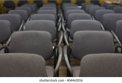 conference hall with grey chairs