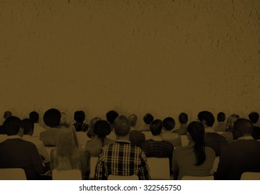 Conference Meeting People Learning Presentation Audience Concept