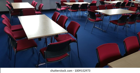 Conference room desk and chairs
