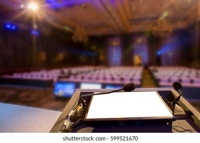 Conference room meeting business event for seminar.